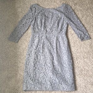 Gray JCrew lace overlay dress